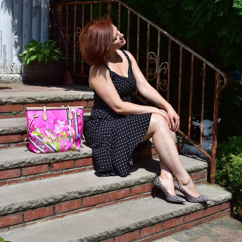 Hot pink floral bag, Summer Bag, animal prints, flowers