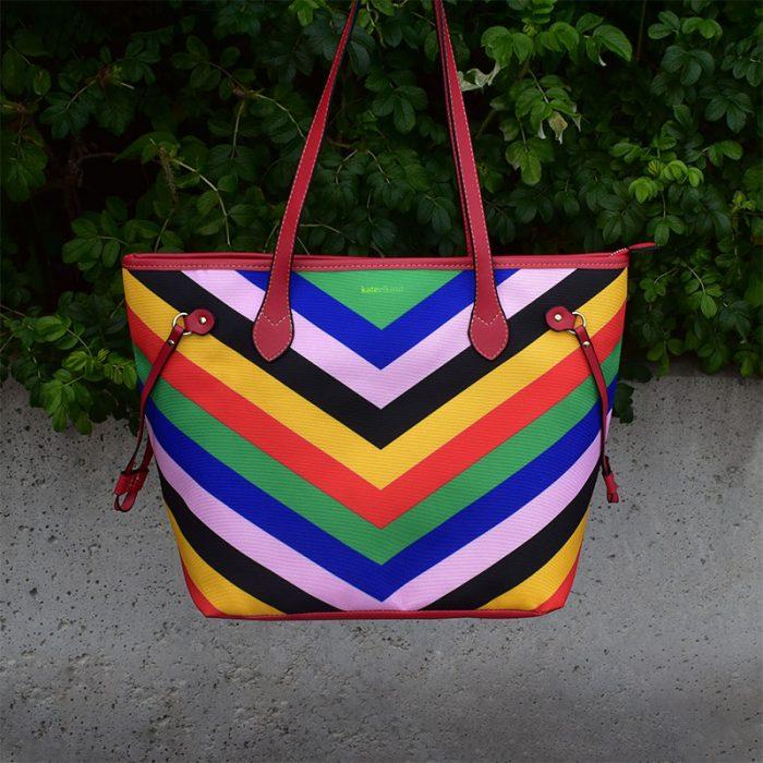 V-stripes bag, Wonder woman inspired, Bold summer bag