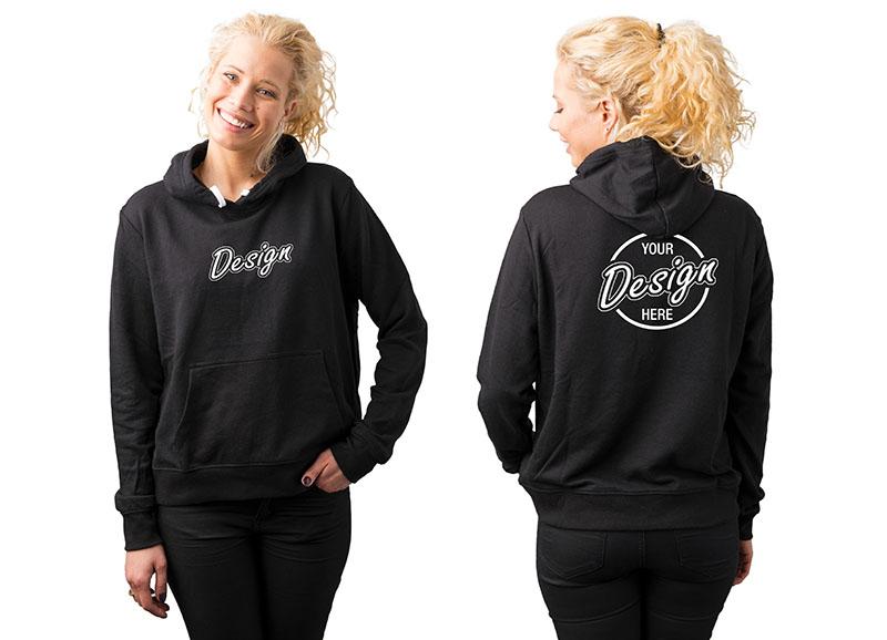 Black Hoodie for Custom Emboidery